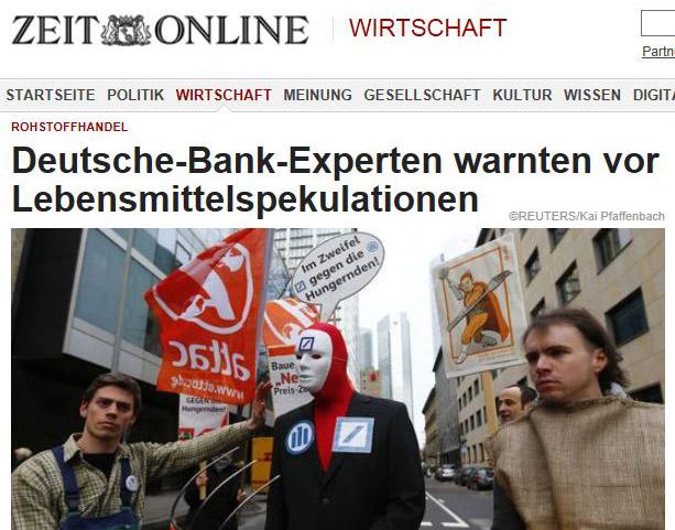 Foodwatch führt Deutsche Bank und Allianz vor