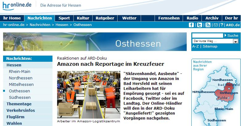 HR online: Sklavenarbeit bei Amazon