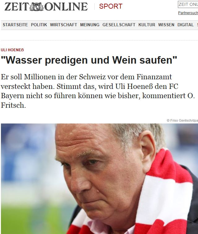 Uli Hoeneß droht Medien mit juristischer Keule