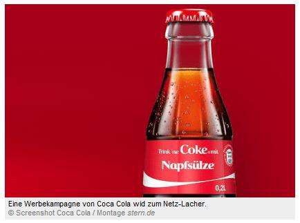 Coca Cola macht die Spaßbremse im Internet