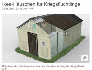 Ikea baut Hütten für Flüchtlinge