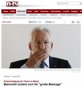 Bahn-Chef Grube weicht klug vor Kritikern zurück