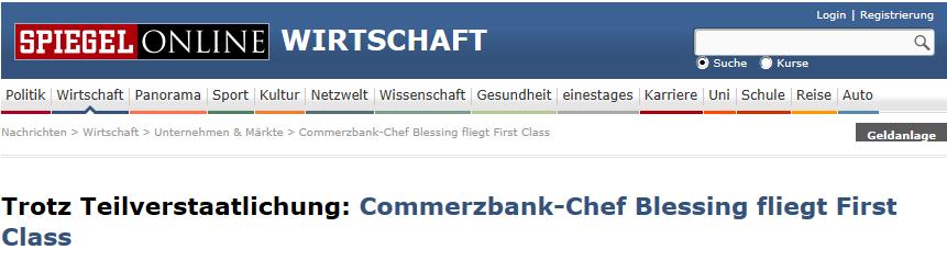 Neidjournalismus gegen Commerzbank-Chef Blessing