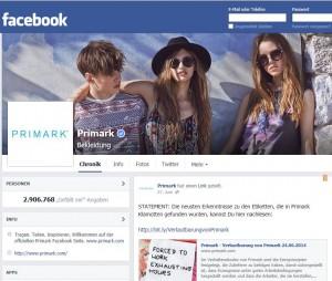 primark facebook