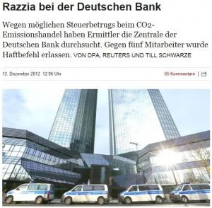 Durchsuchung Deutsche Bank