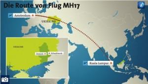 mh17 flugroute