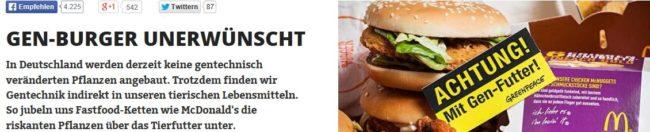 McGen: Greenpeace stürzt McDonald's in PR-Krise
