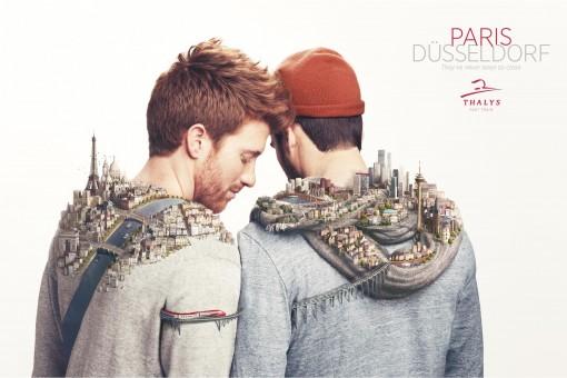 """Mit diesem Motiv einer Werbekampagne wollte sich Thalys 2013 gezielt als """"gay friendly"""" positionieren. Das hat wohl nicht jeder Mitarbeiter mitbekommen… (Agentur RosaPark für Thalys)"""