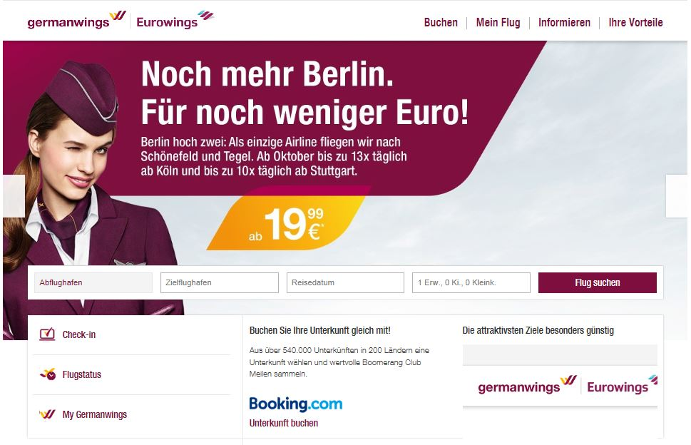 germanwings webseite