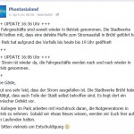 Facebook Phantasialand Stromausfall 4b Status update