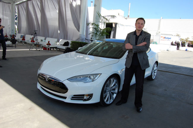 Elon Musk in Tesla Factory Fremont CA by Maurizio Pesce flickr