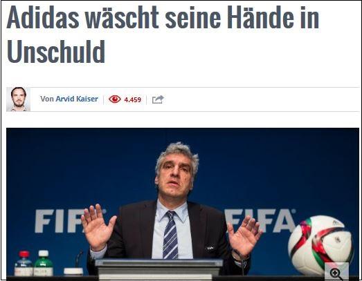 Adidas: die traurige Selbststrangulierung im FIFA-Skandal