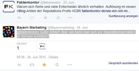 Tweet von Bayernmarketing