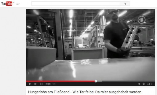 Daimler will nicht, dass Sie das sehen: Alte SWR-Reportage bei Youtube (Screenshot)