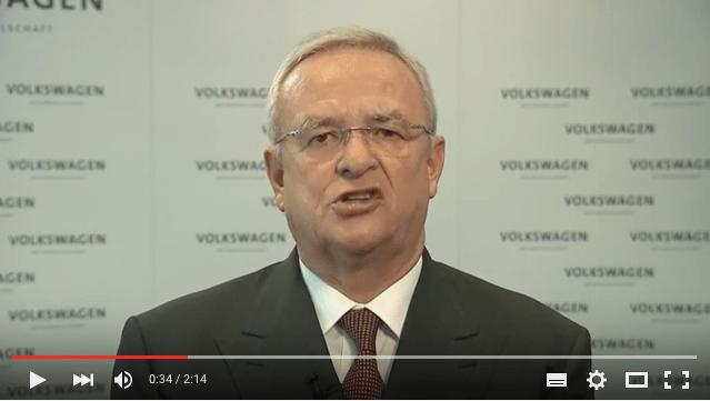 Kam im Video nicht gut rüber: VW-Chef Winterkorn