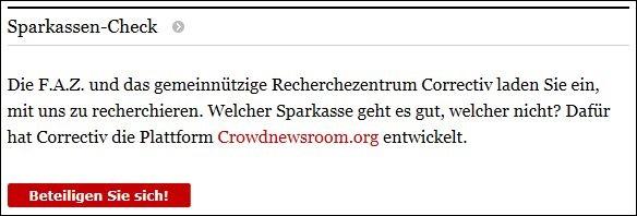 krisen-PR Sparkassen-Check Aufforderung