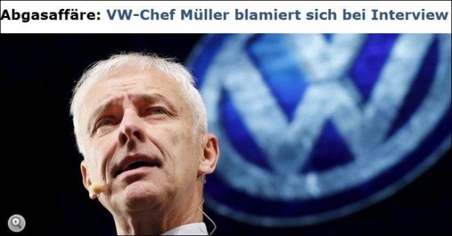 Krisen-PR VW Müller