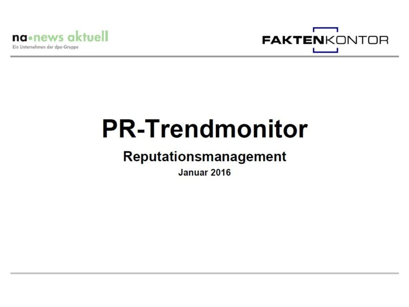PR-Trendmonitor Jan 16