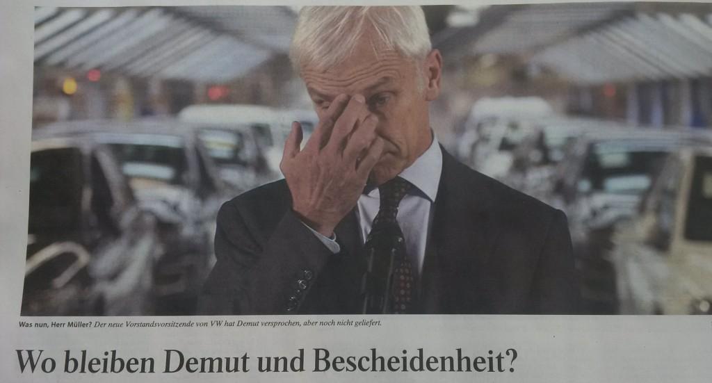 Krisen-PR Dieselgate VW