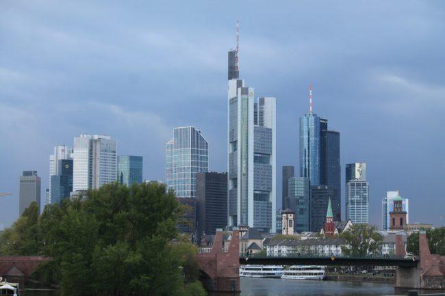 Die Skyline von Frankfurt am Main.