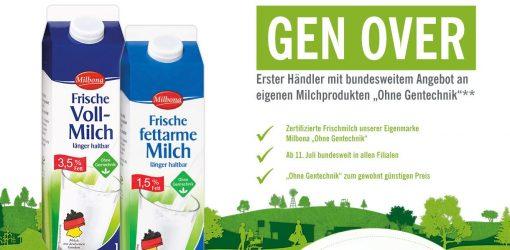 """Screenshot Lidl Milchtüten mit Überschrift """"Gen over"""""""