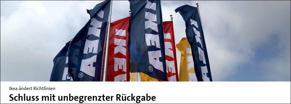 Krisen-PR Ikea Rückgaberecht