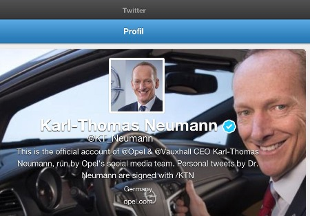Pressebild Opel Screenshot Twitter-Account Opel