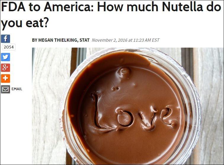 Krisen PR Nutella