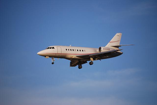 Dassault Falcon 2000 im Landeanflug