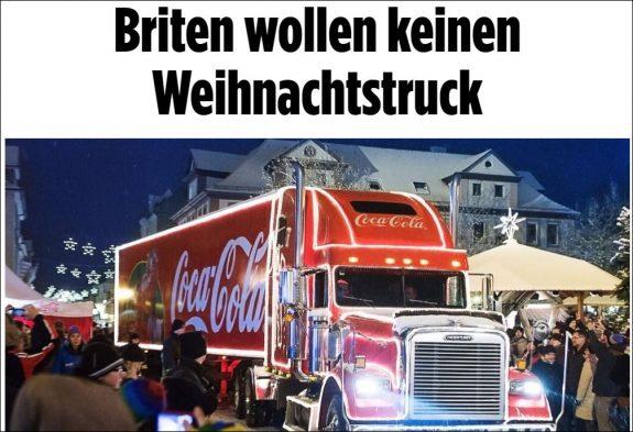 Krisen-PR: kein Parkplatz für den Coca-Cola-Truck