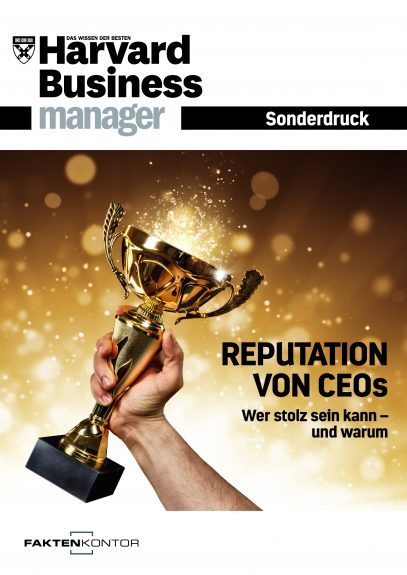 "Titelbild Harvard Business Manager Sonderdruck ""Reputation von CEOs"""