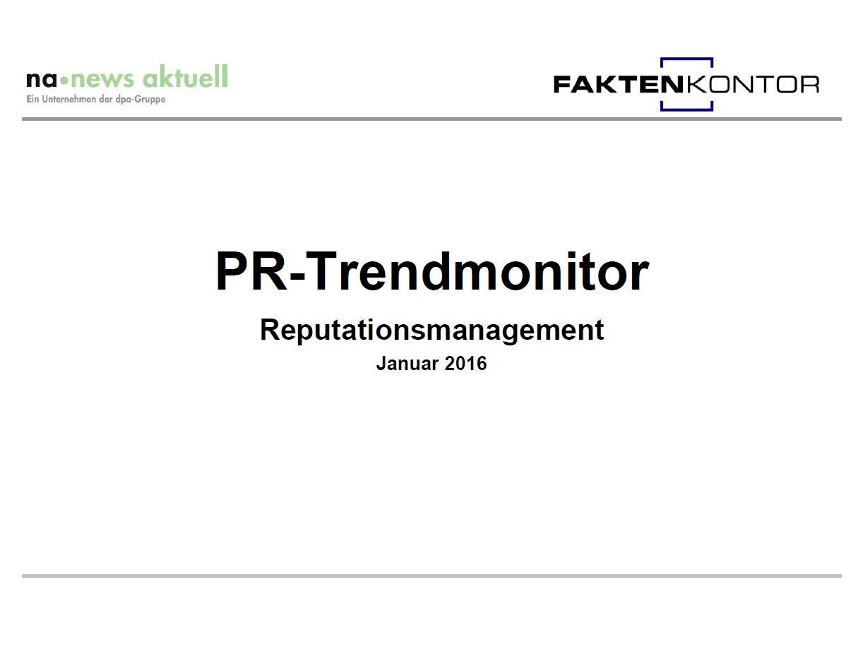 PR-Trendmonitor Jan. 16