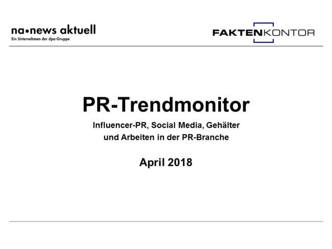 PR-Trendmonitor April 2018