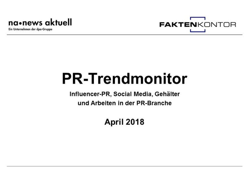 PR-Trendmonitor April 2018
