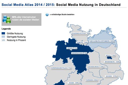 Social Media-Atlas 2014 / 2015
