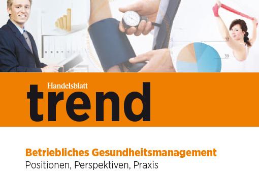 Handelsblatt trend Betriebliches Gesundheitsmanagement